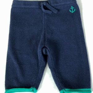 Janie and Jack 0-3 Month Navy Sweater Pants